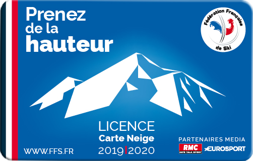 1 Licence Carte Neige 2019 2020 angles arrondis